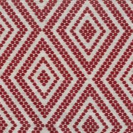 Tissu Jacquard velours Folklore - Rouge x 10cm