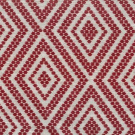 Velvet Jacquard fabric - red x 10 cm