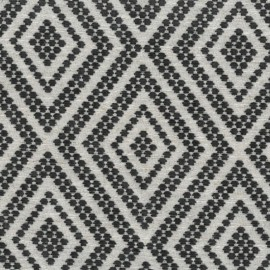 Tissu Jacquard velours Folklore - gris x 10cm