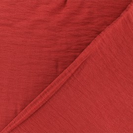♥ Coupon 220 cm X 140 cm ♥ Crinkled Viscose Fabric - Poppy red