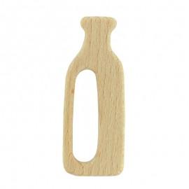 Anneau de dentition bois naturel bio - bouteille