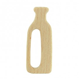 Natural wood teething ring - milk bottle