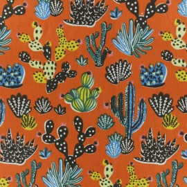 Cretonne cotton fabric - Paprika Tito x 10cm