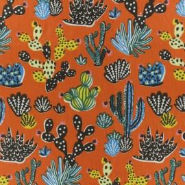 Tissu coton crétonne Tito - Paprika x 10cm