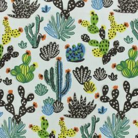 Tissu coton crétonne Tito - Blanc x 10cm