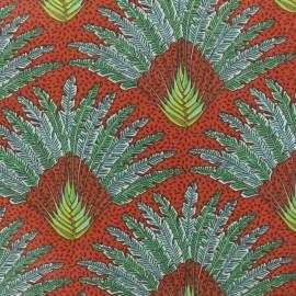 Tissu coton crétonne Madagascar - curry x 10cm