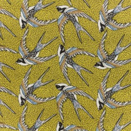 Cretonne cotton fabric - yellow Envol x 10cm