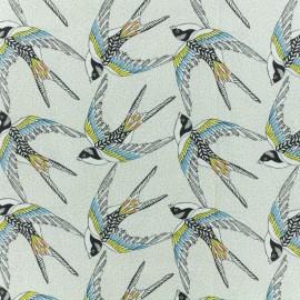 Cretonne cotton fabric - white Envol x 10cm