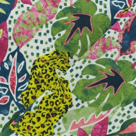 Tissu coton crétonne Mowgli - Fuchsia x 10cm