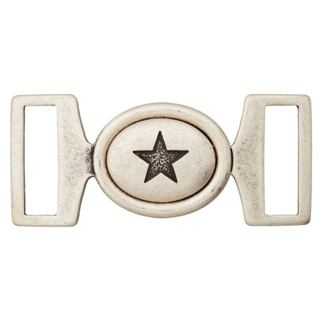 Metal Buckle - Ancient Silver Starry