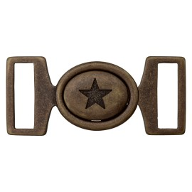 Metal Buckle - Bronze Starry
