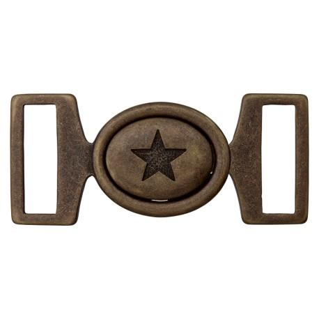 Metal Buckle - Bronze Starry