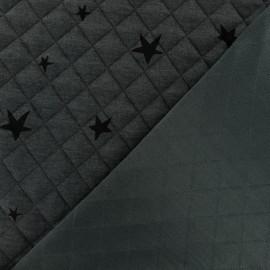 Tissu matelassé simple face Tina - Gris x10cm