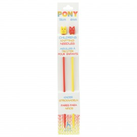 Pony Children Knitting Pins 18cm 4 mm