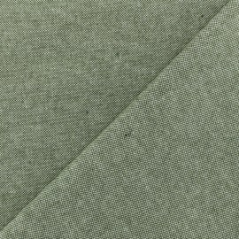 Chambray Cotton fabric - Khaki x 10cm