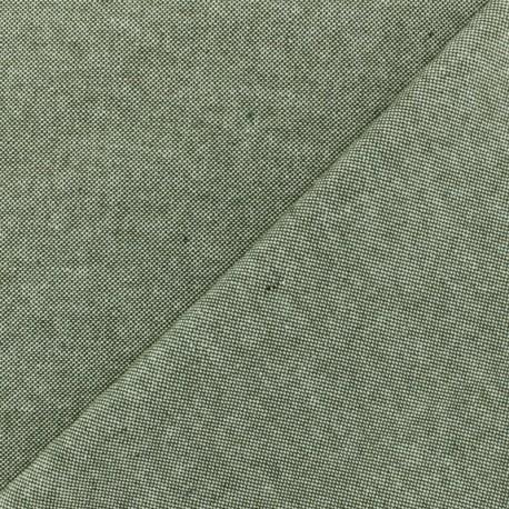 Chambray Cotton fabric - Khaki x 10cm