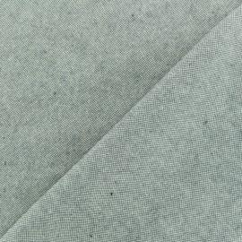 Tissu toile coton chambray - Gris x 10cm