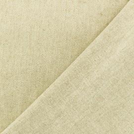 Tissu toile coton chambray - Naturel x 10cm