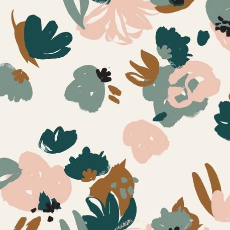 Tissu viscose Atelier Brunette - Posie green x 10cm