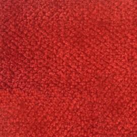 Tissu velours chenille - sanguine  x 10cm