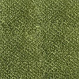 Tissu velours chenille - vert mousse  x 10cm
