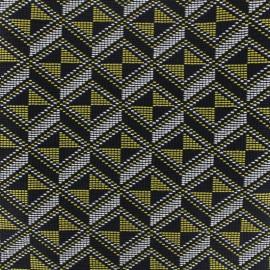 Jacquard fabric - Black Mahjong x 10cm
