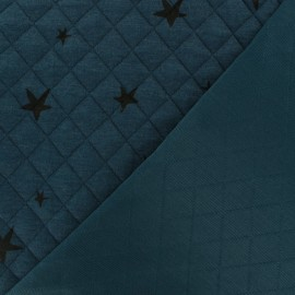 Quilted fabric single-sided Tina - Petrol blue x 10cm