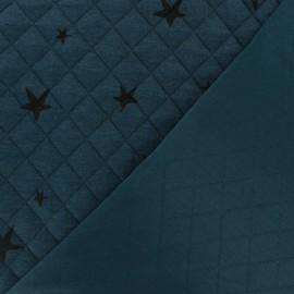 Tissu matelassé simple face Tina - Bleu Pétrole x10cm