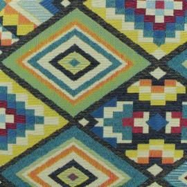 Tissu Jacquard Dakota - bleu x 50cm