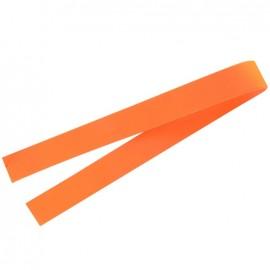 Leather strip bag-handles - fluorescent orange