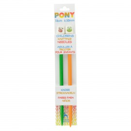 Pony Children Knitting Pins 18cm 6,5 mm - Animal
