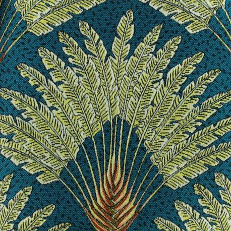 Tissu Jacquard Dakota - bleu x 28cm