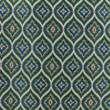 Tissu Jacquard Palais - bleu x 20cm
