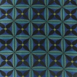 Jacquard fabric - Blue Lombok x 10cm