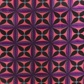 Jacquard fabric - Pink Lombok x 10cm