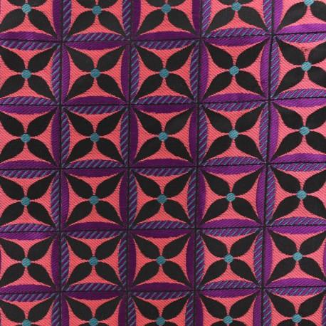 Tissu Jacquard Lombok - Rose x 10cm