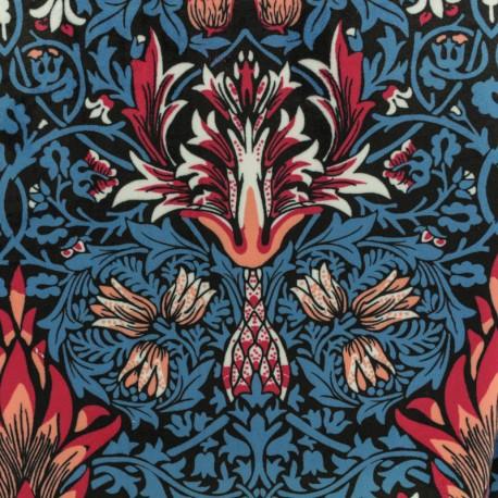 Short velvet fabric - Blue Laélie x10cm