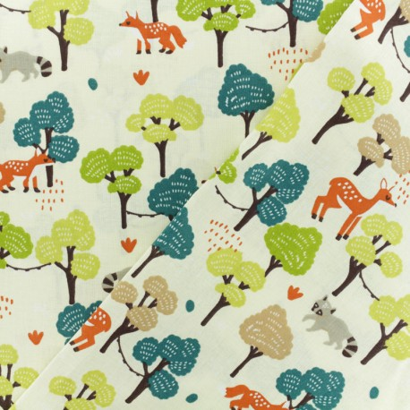 Cretonne cotton Fabric - Raw Maya x 10cm