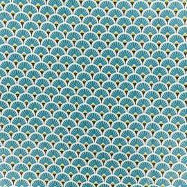 Tissu coton crétonne enduit Eventail - canard x 10cm