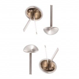 12 mm Round Metal Purse Feet Studs (4 pcs) - Nickel