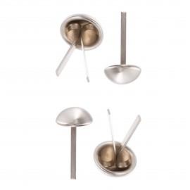 Pied de Sac Rond Métal 12 mm (4 pièces) - Nickel