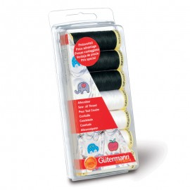 Polyester Sew-all Thread Set - Black/White Gutermann