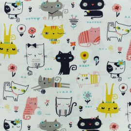 Cotton Dashwood fabric - Raw Cool for cats x 10cm