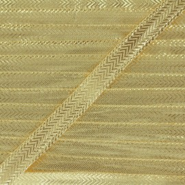 Lamé ribbon 10 mm - golden