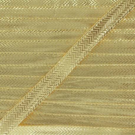 Lamé ribbon 10 mm - golden