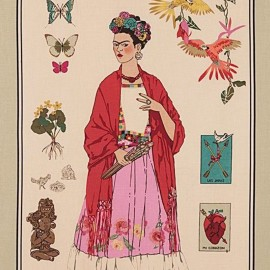 Alexander Henry cotton fabric - L'Artista con Alma - Beige x 60cm