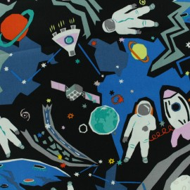 Alexander Henry fabric - Black Outer Space x 10cm