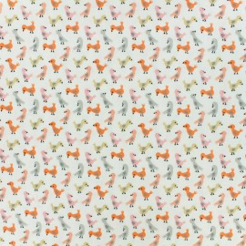 Cotton fabric - White Tiny birds x 10cm
