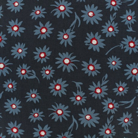 AGF Rayon fabric - Blue Flower glory x 10cm