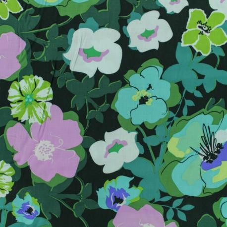 Tissu rayonne AGF Pressed ablossom royal - violet x 10cm
